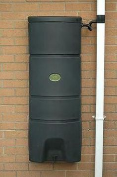 160 Litre Wall Mounted Water Butt Rainwater tank - optional Guttermate filter - Freeflush Rainwater Harvesting Ltd.