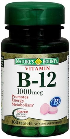 Active Ingredients 1 Tablet: Vitamin B-12 (as Cyanocobalamin) 1,000 mcg (1 mg); Dicalcium Phosphate; Vegetable Cellulose; Silica; Vegetable Magnesium Stearate; Vegetable Stearic Acid. Vitamin B-12 is essential for normal formation of blood cells and contributes to the health of the nervous system. |$8.04