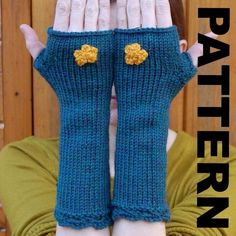 Fingerless Mitten Knitting Pattern  Martha Mittens by shmugusta, $5.00
