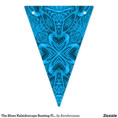 The Blues Kaleidoscope Bunting Flags