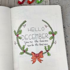Yay, it's Christmastime — which, for some of us, means a bunch of new bullet journal opportunities! | 21 Very Merry Christmas Bullet Journal Ideas