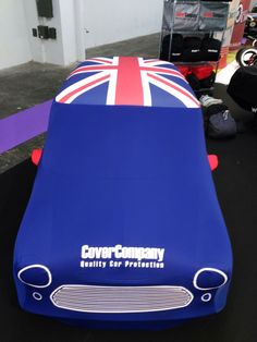 Union Jack Roof Top Custom Car Cover for Mini
