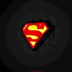Lampka Superman 3D - logo