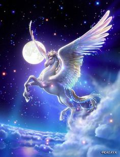Unicorn - a gallery of magical Unicorn and Pegasus artwork by various artists. This collection of Pegasus and Unicorn images is truly enchanting. Unicorn Fantasy, Unicorn Art, Unicorn Painting, Purple Unicorn, Cartoon Unicorn, Rainbow Unicorn, Fantasy Kunst, Fantasy Art, Fantasy Images