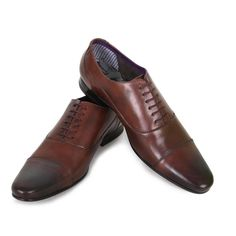 Ted Baker Mens Brown Churen Leather Oxford Shoes