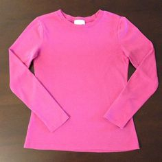 SALE - LOFT Cotton Long Sleeve Top This pink top is 100% cotton. Shows some wear, but still in good shape. No stains. Size S. Very comfortable everyday top. LOFT Tops Tees - Long Sleeve