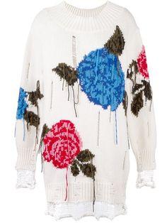 Купить MSGM floral frayed sweater в Chin's from the world's best independent boutiques at farfetch.com. 400 бутиков, 1 адрес. .