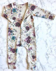 021f9fcc2 Floral Snap Romper für Baby / Kleinkind / Mädchen Pyjamas-Strampler