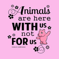 ANIMALS ARE HERE WITH US, NOT FOR US | Fabrily Vegan Facts, Vegan Memes, Great Quotes, Me Quotes, All Animals Are Equal, Earth Quotes, Healthy Holistic Living, Love Truths, Stop Animal Cruelty