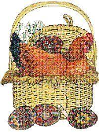 Daisy Easter free cross stitch pattern by Jan Brett