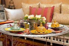 Una mesa de té étnica, ¡nos encanta el resultado!