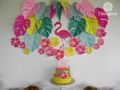 Dimequesi 's Birthday / Flamingos - Photo Gallery at Catch My Party Pink Flamingo Party, Flamingo Birthday, Birthday Diy, Birthday Parties, Flamenco Party, Birthday Decorations At Home, Tropical Party, Paper Flowers, Party Ideas