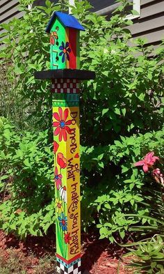 Love Garden Art Pole Healing Garden Art Pole How To Make Garden Art Pole Peace Poles And Garden Art Poles By Stephanie Burgess And Studiom Painted Peace. How to make garden art pole peace home sweet diy. Healing garden art pole peace default name diy. Garden Whimsy, Diy Garden, Garden Crafts, Garden Projects, Tableau Pop Art, Peace Pole, Garden Poles, Pole Art, Garden Signs