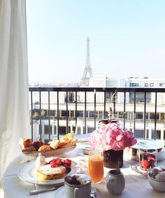 www.littlerugshop.com Breakfast with a view. And a moment I won't forget anytime soon...  by parisinfourmonths