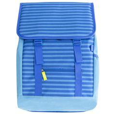 Messenger Backpack - Blue Stripe