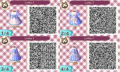 Blue pastel maid dress: ACNL QR clothes