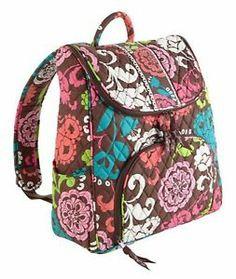 Vera Bradley Double Zip Backpack Lola Pattern New NWT   eBay
