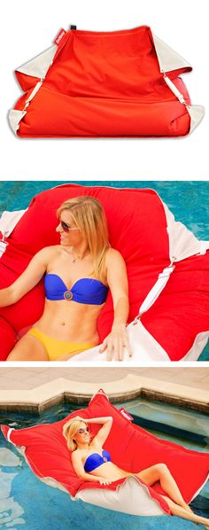 Outdoor chair that also works as a floatie