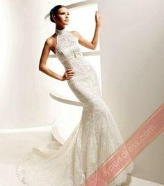 Wedding Dress High Neck