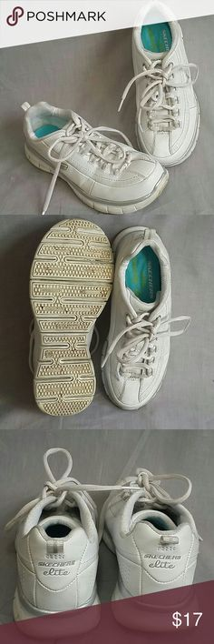 Women's skechers elite memory foam shoes White 6 M Lace-ups leather synthetic item is in a good condition. (Please check my bundle discount thanks for visiting). Skechers Shoes Sneakers