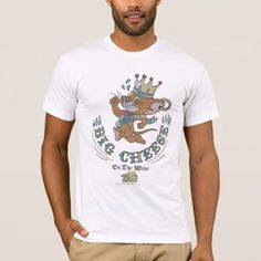 Shop Jerry Big Cheese On The Moon 2 T-Shirt created by tomandjerry. Personalize it with photos & text or purchase as is! Tom And Jerry, Classic Cartoons, White Shop, American Apparel, Fitness Models, Toms, Long Sleeve Shirts, Mens Fashion, Casual