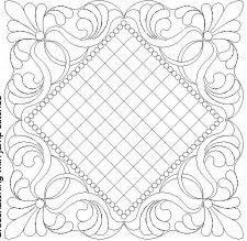 Kerspitwerk met blokkies patroon in middel, ook vir kroelwerk, besonders.