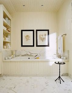 The House Creative: Beadboard Bathrooms To Die For