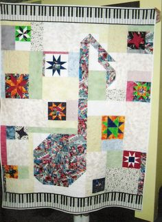 Music note quilt for Heidi. This is one of my faves!