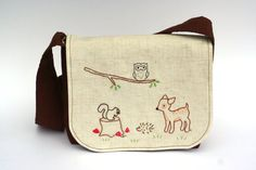 Children's Forest Friends Messenger Bag by KatalilyBoutique, $35.00