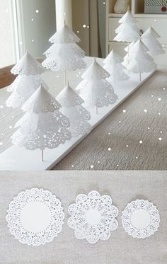 Doily Christmas trees