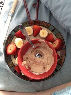 White chocolate fondue with a little cinnamon , delicious!