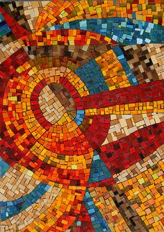 """Make Your Own Path, No. 3"", © Libby Hintz  Mosaic  Materials: smalti, Mexican smalti, vitreous glass tile,"