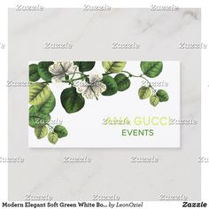 Shop Modern Elegant Soft Green White Botanical Floral Business Card created by LeonOziel. Day Up, Business Cards, Party Favors, Things To Come, Elegant, Floral, Green, Modern, Prints