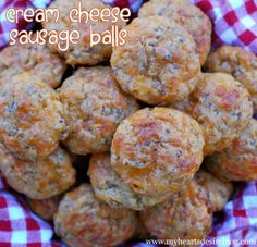 Cream Cheese Sausage Balls. With the holidays close at hand this is a quick, simple and tasty appetizer. Mustard dipping sauce rounds it out. Happy Holidays.
