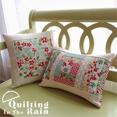 Free pillow patterns - too cute..  Moda Bake Shop: Quilt As You Go Improv Pillows