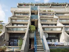 Brutalist housing estate in north London, designed by Neaves Brown of Camden Council's Architects