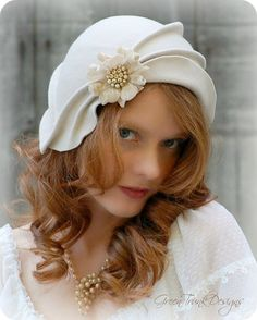 Wedding+Cloche+Hat+by+GreenTrunkDesigns+on+Etsy,+$200.00