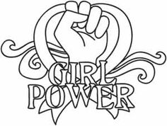 "Girl Power design (UTH1847) from UrbanThreads.com 5.71""w x 4.33""h"