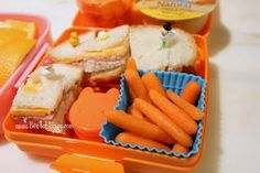 Orange day bento from Bentobloggy.com - cute and healthy lunches!