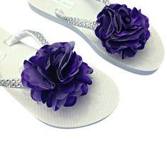 Dama de honor ojotas boda de playa ojotas por APricelessPrincess