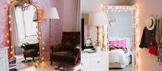 8 ideias de como usar luzes de natal ou pisca-pisca na decoração - Casinha Arrumada