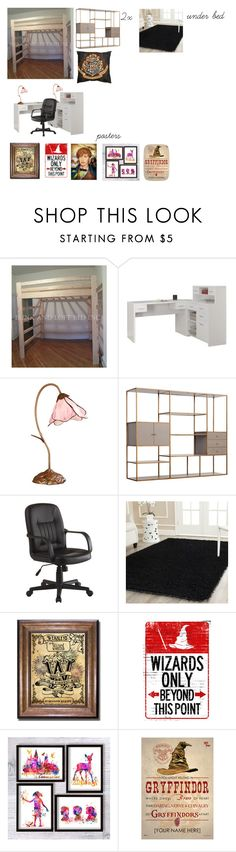 """""""Briar Rose~Bedroom"""" by bookassasin on Polyvore featuring interior, interiors, interior design, home, home decor, interior decorating, Monarch, Dale Tiffany, Redford House and Safavieh"""