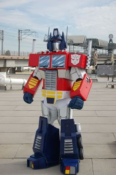 Picture of Optimus Prime Costume...I'd better get to building!  Might could have it done by next Halloween!