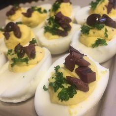 These deviled eggs are a benefit to your eyes because they contain antioxidants and omega-3 fats that are important for eye health.