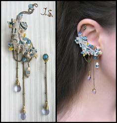 Ear cuff and stud Town of forgotten dreams by JSjewelry.deviantart.com on @deviantART