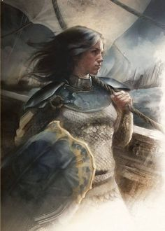 Asha Greyjoy:  A Song of Ice & Fire by Jae Drummond