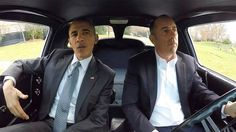 """President Barack Obama and Jerry Seinfeld. President Barack Obama and Jerry Seinfeld on """"Comedians in Cars Getting Coffee."""""""