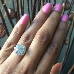 Cruising with this cushion rinG  #proposal #proposalideas #fiance #engagement #engaged #engagementring #etsyshop #dreamring #shesaidyes #isaidyes #imengaged #linkinbio #ringshopping #ringselfie #ringbling #theknot #theknotrings #howheasked #gettingmarried #husbandandwife #sparkle #cushion #rings #nails #bridal #bridetobe #weddinginspiration #pinterest #ringoftheday #ettdringoftheday