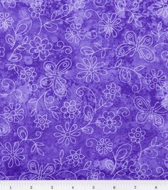 Keepsake Calico Fabric-Sundrenched Butterfly Flowers Lavender
