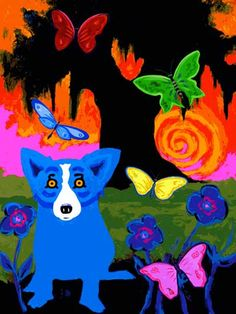 Love George Rodrigue's Blue Dog paintings  Jenn Fenn: I met the artist and saw his paintings in New Orleans!